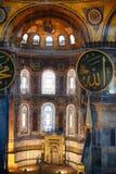 El interior del Hagia Sophia con los elementos islámicos del famouse, Imagen de archivo libre de regalías
