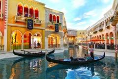 El interior del hotel y del casino venecianos en Las Vegas fotos de archivo