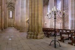 El interior del monasterio de Batalha, Portugal Imágenes de archivo libres de regalías