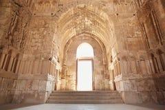 El interior del palacio de Umayyad en Amman Imagen de archivo