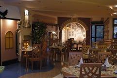 El interior del restaurante Fotografía de archivo libre de regalías