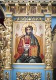 El interior el templo del icono de Don de la madre de dios Fotografía de archivo libre de regalías