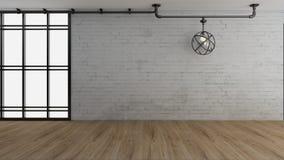 El interior industrial 3d rinde imágenes Foto de archivo