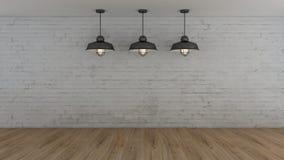 El interior industrial 3d rinde imágenes Fotos de archivo libres de regalías
