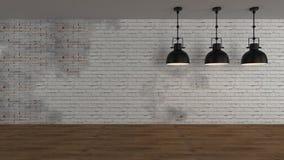 El interior industrial 3d rinde imágenes Fotografía de archivo libre de regalías