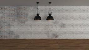 El interior industrial 3d rinde imágenes Fotografía de archivo
