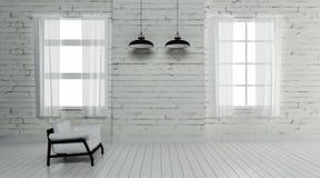 El interior industrial 3d rinde imágenes Imagen de archivo libre de regalías