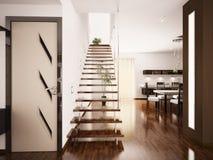 El interior moderno 3d rinde Imagen de archivo libre de regalías