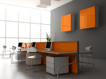 El interior moderno de la oficina libre illustration