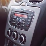 El interior moderno del coche detalla el primer fotos de archivo