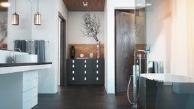 El interior para el cuarto de baño Imagen de archivo libre de regalías