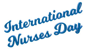 El International cuida el ejemplo rendido 3D caligráfico del texto del día coloreado con azul claro stock de ilustración