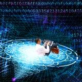 El Internet cósmico de la tecnología Imagen de archivo libre de regalías