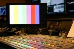 El interruptor abotona en el canal de televisión del estudio, el audio y el vídeo Productio fotos de archivo