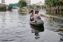 El inundar en Bangkok Fotos de archivo libres de regalías