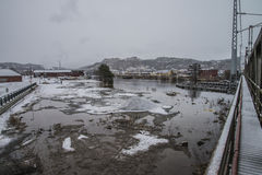 El inundar en el río Imagen de archivo libre de regalías