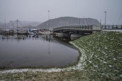 El inundar en el río Fotografía de archivo libre de regalías