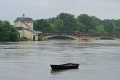 El inundar en Francia Foto de archivo