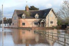 El inundar en Gloucestershire Imagen de archivo libre de regalías