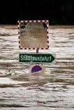 El inundar en la inundación después de la lluvia foto de archivo libre de regalías