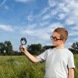 El investigador joven Fotografía de archivo