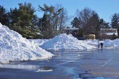 El invierno de la nieve de la ventisca de Jonas del snowzilla asalta el 23 de enero de 2016 Imagen de archivo libre de regalías