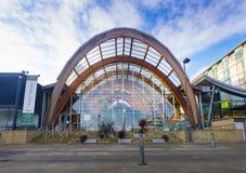 El invierno de Sheffield cultiva un huerto, un espacio público en el corazón de la ciudad Fotografía de archivo