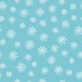 El invierno garabatea el modelo inconsútil dibujado mano Foto de archivo libre de regalías