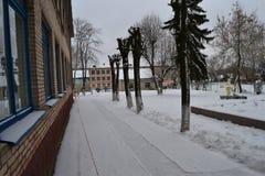 El invierno ha venido Imágenes de archivo libres de regalías
