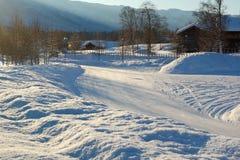 El invierno nórdico Foto de archivo libre de regalías