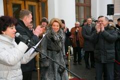El invitado de honor Valentina Matvienko, uno de los políticos de sexo femenino contemporáneos más famosos Foto de archivo