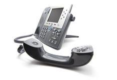 El IP llama por teléfono con el receiever en el frente fotos de archivo libres de regalías