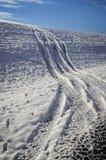 El ir apagado Roading en la nieve Fotografía de archivo