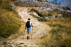 El ir de excursión al pico Imagen de archivo libre de regalías