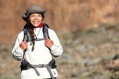 El ir de excursión - caminante de la mujer Imágenes de archivo libres de regalías