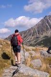 El ir de excursión de la montaña Foto de archivo