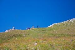 El ir de excursión de la montaña Imágenes de archivo libres de regalías