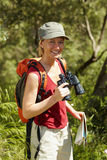 El ir de excursión de la mujer fotografía de archivo libre de regalías