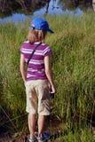El ir de excursión de la niña Imagen de archivo libre de regalías