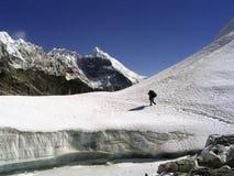 El ir de excursión del glaciar Foto de archivo libre de regalías
