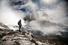 El ir de excursión en dolomía Fotografía de archivo libre de regalías