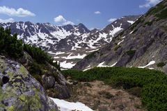El ir de excursión en la montaña Imágenes de archivo libres de regalías
