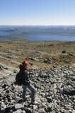 El ir de excursión en Laponia Imagen de archivo libre de regalías