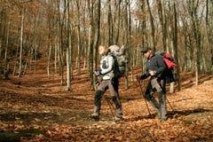El ir de excursión en las montañas Fotografía de archivo libre de regalías