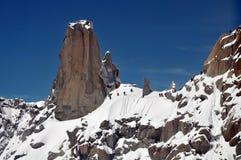 El ir de excursión en las montan@as Fotografía de archivo