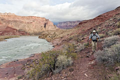 El ir de excursión a lo largo del río de Colorado Foto de archivo
