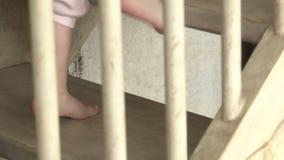 El ir de la pierna del bebé almacen de metraje de vídeo