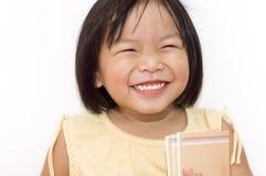 El ir feliz a la escuela. fotos de archivo libres de regalías