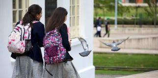 El ir a la escuela Fotografía de archivo