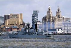 El irse de Liverpool Fotos de archivo